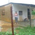 Familia Brito, sector Simón Bolívar, refugiada en la escuela de Romeral III desde el 18/07/2008