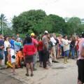 Toma pacífica de la vía Las Tunas - Cordero, entrada de Romeral III