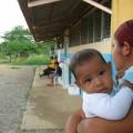 Refugiados en la escuela de Romeral III