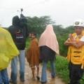 Protección Civil y prensa RCTV en el sector Simón Bolívar