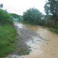 Inundación del sector Centro, carrera 2, de Romeral III