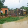 Casas de familias perjudicadas en el sector Simón Bolívar