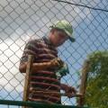 juventud romeraleña pintando malla de alfajol 2