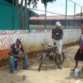 juventud romeraleña en faena  pintura de malla 1