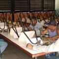 Brigadas almorzando en Comedor Escolar E.BM.J Romeral III